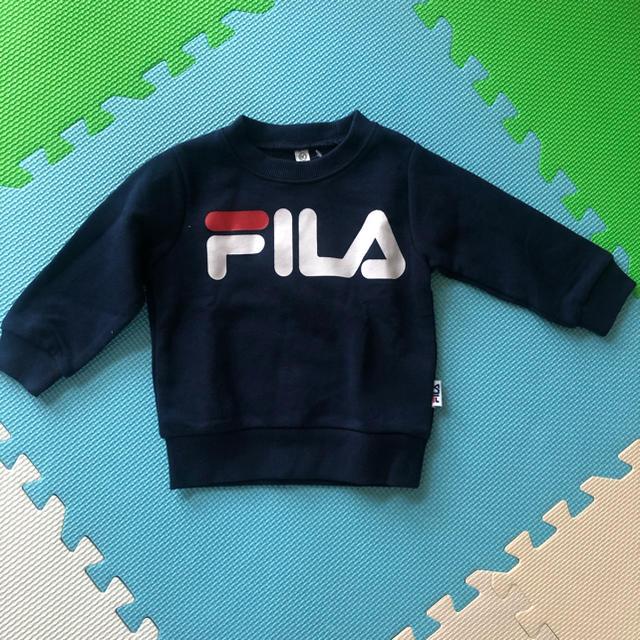 FILA(フィラ)の裏起毛トレーナー キッズ/ベビー/マタニティのベビー服(~85cm)(トレーナー)の商品写真