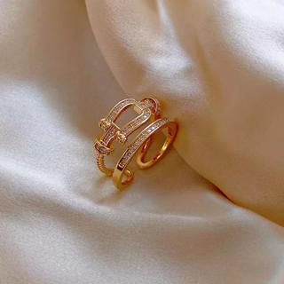 ドゥーズィエムクラス(DEUXIEME CLASSE)の予約受付商品♡ローズゴールドデザインリング(リング(指輪))