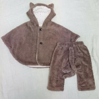 ベビーグース(BabyGoose)のベビーグース 猫ポンチョ、パンツ セット 80(ジャケット/コート)