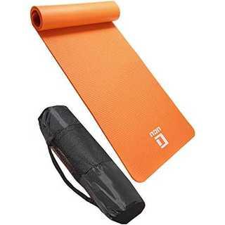 オレンジヨガマット  トレーニングマット 厚さ 10mm  ストラップ 収納ケー(ヨガ)