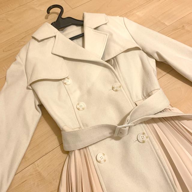 eimy istoire(エイミーイストワール)のeimy プリーツロングコート レディースのジャケット/アウター(ロングコート)の商品写真