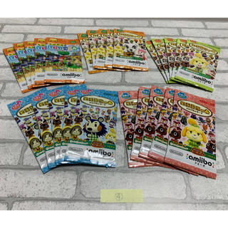 ニンテンドウ(任天堂)の新品未開封 合計25パックセット どうぶつの森 amiiboカード ④(その他)