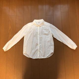 ユニクロ(UNIQLO)のUNIQLO KIDS 丸えりシャツ ブラウス 130(ブラウス)