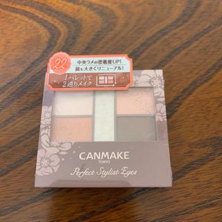 CANMAKE - キャンメイク(CANMAKE) パーフェクトスタイリストアイズv 22 アプリコ