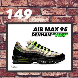 AIR MAX 95 DENHAM コミック アート ポスター 額付き1枚(スニーカー)