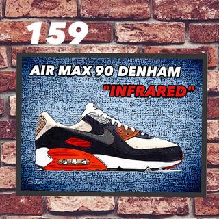 AIR MAX 90 DENHAM コミック アート ポスター 額付き1枚(スニーカー)