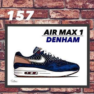 AIR MAX 1 DENHAM コミック アート ポスター 額付き1枚(スニーカー)
