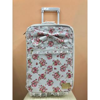リズリサ(LIZ LISA)のLIZ LISA キャリーケース スーツケース 白 花柄 N121(スーツケース/キャリーバッグ)