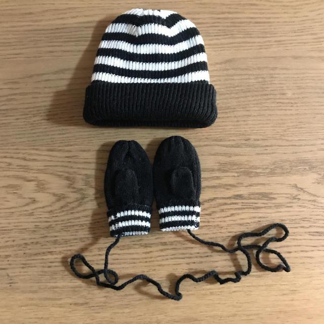 agnes b.(アニエスベー)のアニエスベー ニット帽&手袋 セット キッズ/ベビー/マタニティのこども用ファッション小物(帽子)の商品写真