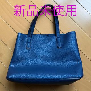 マンゴ(MANGO)のMNG 紺色バッグ(トートバッグ)