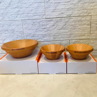 ルクルーゼ(LE CREUSET)のルクルーゼ ウッドサラダボウル 21cm 新品未使用(食器)