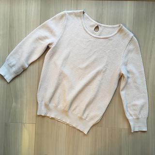 アンタイトル(UNTITLED)のUNTITLED 七分袖ラメニット(ニット/セーター)