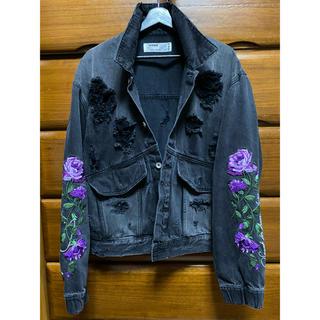 VANQUISH - LEGENDA 薔薇 刺繍 デニムジャケット 紫 / 名古屋店限定カラー