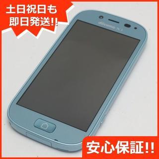 フジツウ(富士通)の美品 F-06F らくらくスマートフォン3 エアーブルー(スマートフォン本体)