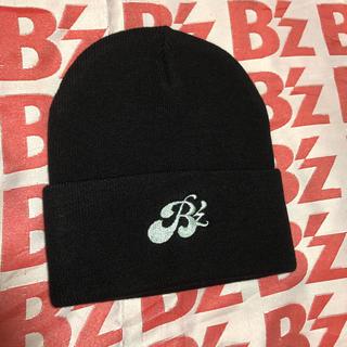 B'z ニット帽 帽子 キャップ 非売品 ロゴ 刺繍 グッズ  冬 防寒