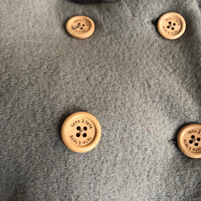 petit main(プティマイン)のテータテート ボアコート キッズ/ベビー/マタニティのキッズ服男の子用(90cm~)(ジャケット/上着)の商品写真