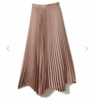 ノーブル(Noble)のCACHEC カシェックサテンイレヘムプリーツスカート(ロングスカート)
