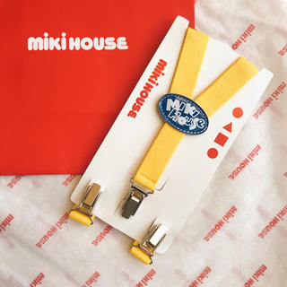 ミキハウス(mikihouse)のフリーサイズ(80-100)ミキハウス ベビー キッズ サスペンダー ロゴ Y型(その他)