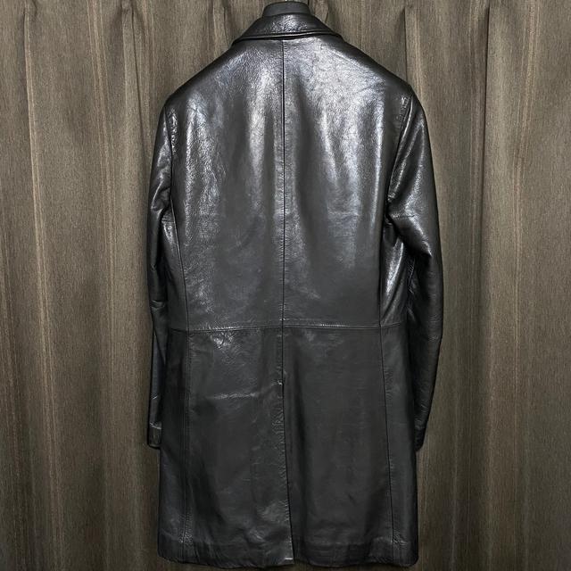 Jil Sander(ジルサンダー)の【名作】JIL SANDER RAFSIMONS期 レザーコート 06AW メンズのジャケット/アウター(レザージャケット)の商品写真