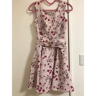 ジルスチュアート(JILLSTUART)の花柄 ワンピース ピンク レディース(ひざ丈ワンピース)