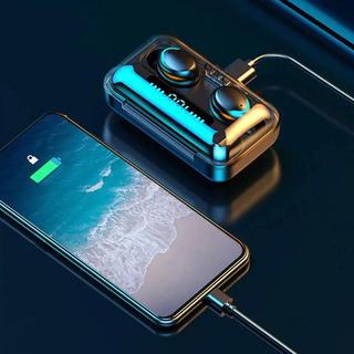モバイルバッテリー ワイヤレスイヤホン イヤフォン Bluetooth 高音質(ヘッドフォン/イヤフォン)