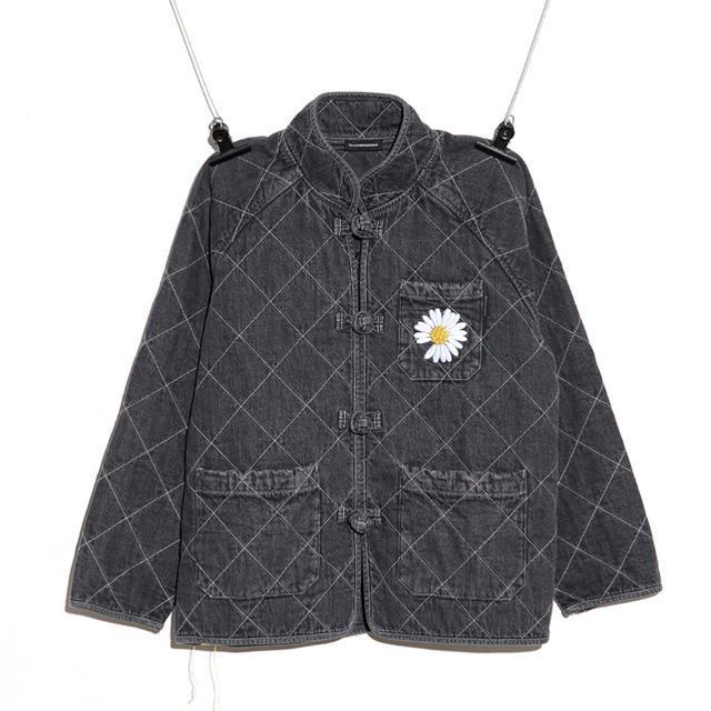 PEACEMINUSONE(ピースマイナスワン)のPMO KUNG FU JACKET #1 BLACK メンズのジャケット/アウター(Gジャン/デニムジャケット)の商品写真