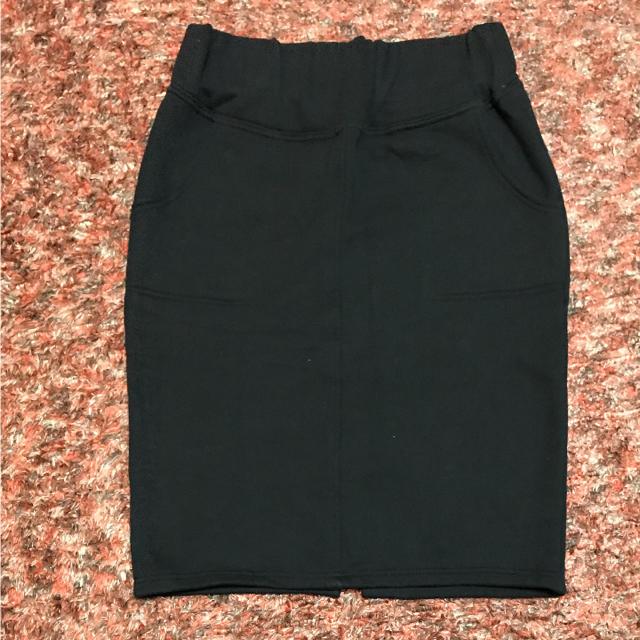 KBF(ケービーエフ)の●KBF スウェット スカート 裏起毛    ブラック    サイズ F   レディースのスカート(ひざ丈スカート)の商品写真