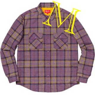 Supreme - SUPREME Pile Lined Plaid Flannel Shirt