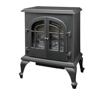 ヤマゼン(山善)の山善 暖炉型ヒーター 疑似炎 照度調整機能付き アンティーク(電気ヒーター)