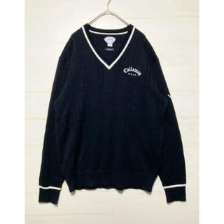 キャロウェイゴルフ(Callaway Golf)のキャロウェイゴルフ Callaway GOLF ニット セーター LL ブラック(ニット/セーター)