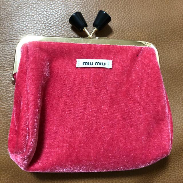miumiu(ミュウミュウ)の専用ですミュウミュウ コインケース コスメポーチ 化粧ポーチ 小物入れノベルティ レディースのファッション小物(ポーチ)の商品写真