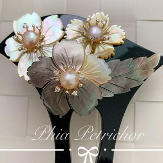 髪飾り 黑蝶貝 かんざしB2010231 バチ型 結婚式 簪 留袖 着物 成人式(ヘアアクセサリー)