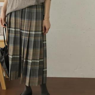 DOORS / URBAN RESEARCH - 新品タグ付 チェックプリーツロングスカート