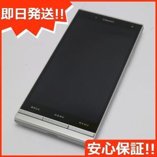 キョウセラ(京セラ)の美品 au URBANO L02 シルバー 白ロム(スマートフォン本体)