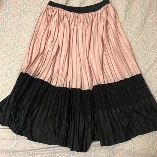 ZARA - 美品★ZARA ザラ プリーツスカート レース ピンク&ブラック S