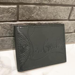 Christian Louboutin - 美品 ルブタン 折りたたみ財布 ブラック レッド コンパクト シンプル 定番