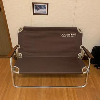 キャプテンスタッグ(CAPTAIN STAG)のcaptain stag 鹿ベンチ ブラウン(テーブル/チェア)