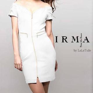 アン(an)のIRMA 85172 レースアップオフショルダーミニドレス ホワイト Sサイズ(ミニドレス)