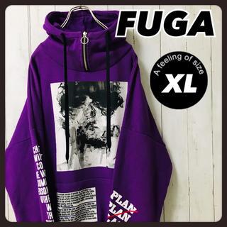 フーガ(FUGA)のFUGA フーガ ハーフジップ パーカー 紫 韓国 大きめ XL(パーカー)