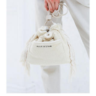ALEXIA STAM - アリシアスタン Reversible Drawstring Bag Ivory