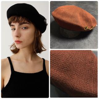 マウジー(moussy)の新品タグ付き*moussyベレー帽(ハンチング/ベレー帽)