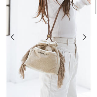 ALEXIA STAM - アリシアスタン Reversible Drawstring Bag Beige