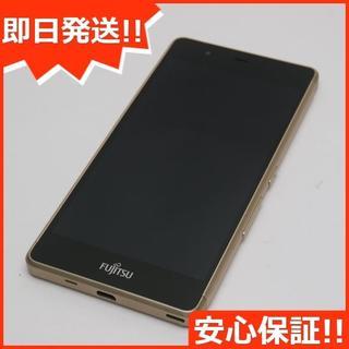 フジツウ(富士通)の美品 SIMフリー arrows M03 ゴールド (スマートフォン本体)