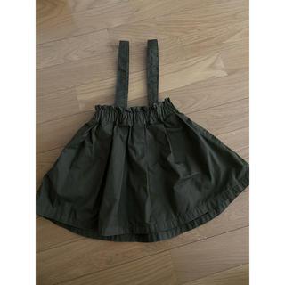 マーキーズ(MARKEY'S)のマーキーズ スカート ワンピース ジャンパースカート サスペンダー カーキ(スカート)