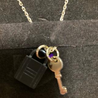 エルメス(Hermes)のエルメス バッファローホーンアミュレット パドロックPM  ネックレス(ネックレス)