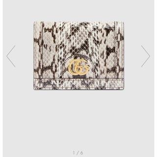 Gucci - GUCCI  スネークレザー カードケース(コイン&紙幣入れ付き)