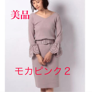 Mystrada - 🌺美品✨マイストラーダ 袖刺繍Vネックリブニットワンピース