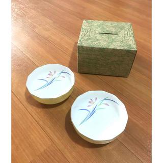 コウランシャ(香蘭社)の美品!香蘭社・花菖蒲デザイン 茶碗鉢 ペアセット(食器)