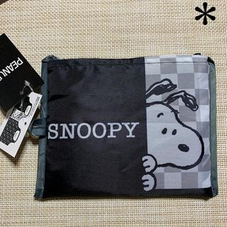 SNOOPY - 《新品  タグ付き》 スヌーピー  エコバッグ     NO.21  モノクロ