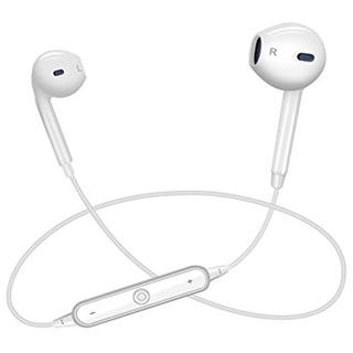 最安値!ワイヤレスイヤホン Bluetooth 白 新品未使用 充電器付き(ヘッドフォン/イヤフォン)